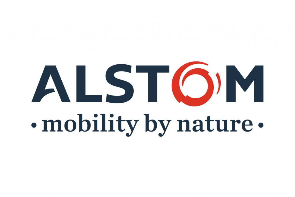 Logo Alstom with baseline mobility by nature